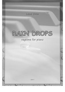 Rain Drops Rag: Rain Drops Rag by Lena Orsa