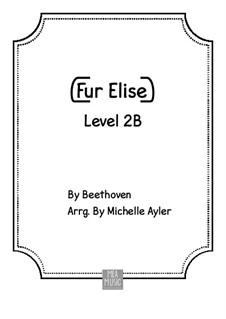 Für Elise, für Klavier, WoO 59: For beginners piano by Ludwig van Beethoven