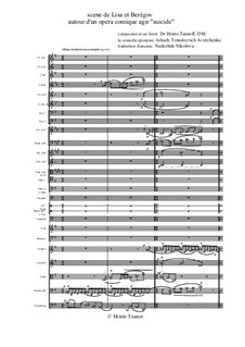 Suicide. Opera comique: Scene de Lisa et Berègov by Christo Tsanoff