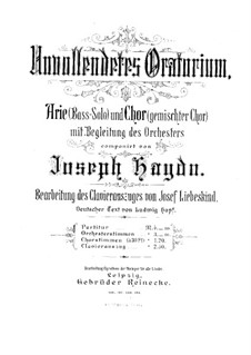 Unvollendetes Oratorium: Unvollendetes Oratorium by Joseph Haydn