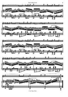 Du grosser Gott, wenn ich die Welt betrachte: Für Flöte und Piano by folklore