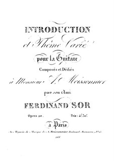 Introduction, Theme and Variations, Op.20: Introduction, Theme and Variations by Fernando Sor