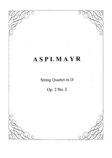 Konzertquartett Nr.2 in D-Dur für Streicher, Op.2: Vollpartitur by Franz Asplmayr