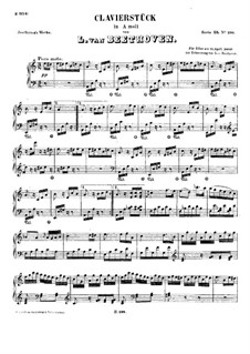 Für Elise, für Klavier, WoO 59: Für einen Interpreten by Ludwig van Beethoven