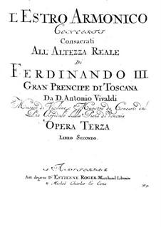 Konzert für zwei Violinen und Streicher Nr.8 in a-Moll, RV 522: Basso Continuo Stimme by Antonio Vivaldi