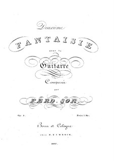 Fantasia No.2 in A Major, Op.4: Für Gitarre by Fernando Sor