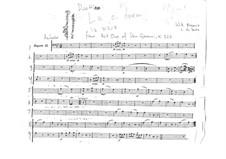 Reich mir die Hand, mein Leben: Fagottstimme II by Wolfgang Amadeus Mozart