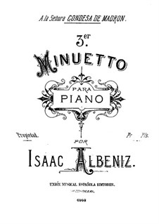 Menuett in As-Dur: Menuett in As-Dur by Isaac Albéniz