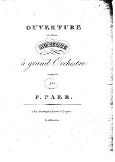 Achille: Ouvertüre by Ferdinando Paer