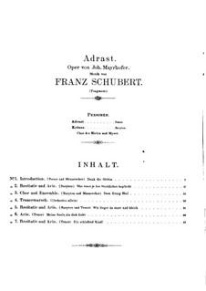 Adrast, D.137: Nr.1-7 by Franz Schubert