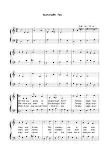 Scarborough Fair: Für Stimmen und Klavier by Unknown (works before 1850)