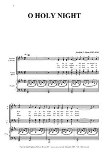 O hehre Nacht: Für Gemischter Chor und Orgel by Adolphe Adam