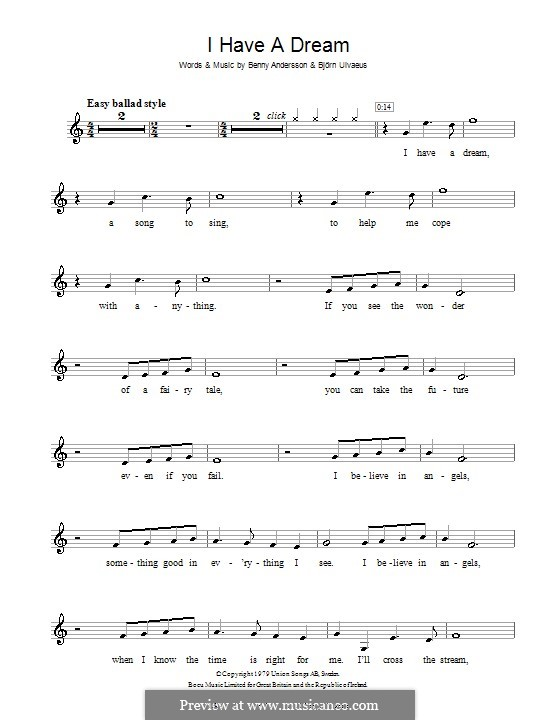 I Have a Dream (ABBA): para violino by Benny Andersson, Björn Ulvaeus