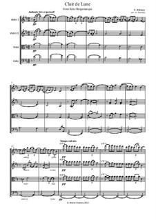 No.3 Clair de lune: para quartetos de cordas by Claude Debussy