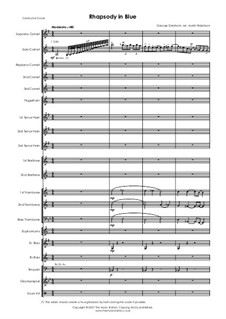 Rhapsody in Blue: For brass band by George Gershwin