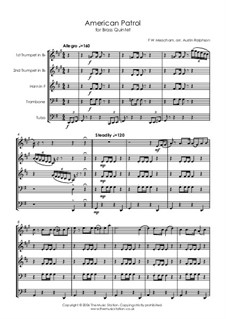 American Patrol, Op.92: Para quinteto de metais by Frank W. Meacham