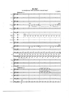 Waltz from 'My tender and gentle animal': para orquestra sinfonica by Eugen Doga