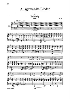 Erlkönig (Forest King), D.328 Op.1: para voz alta e piano by Franz Schubert