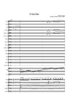 O Sole Mio: For solo and symphonic orchestra by Eduardo di Capua