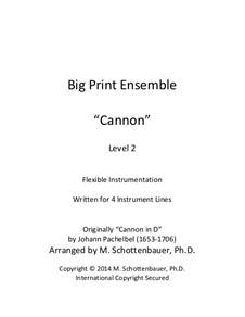 Canon in D Major: For flexible instrumentation by Johann Pachelbel