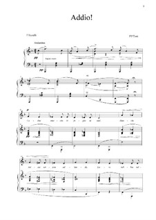 Addio!: Para voz e piano (F maior) by Francesco Paolo Tosti