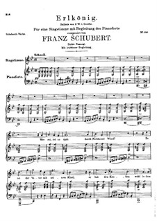 Erlkönig (Forest King), D.328 Op.1: For voice and piano - third version by Franz Schubert