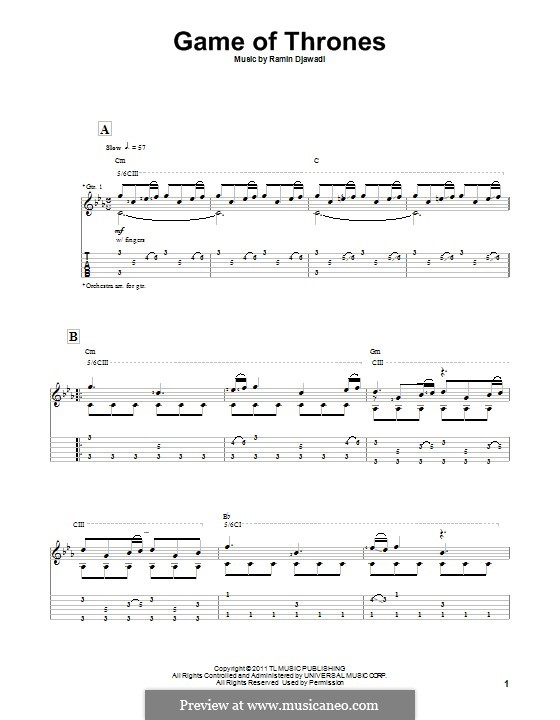 Game of Thrones: Para guitarra com guia by Ramin Djawadi