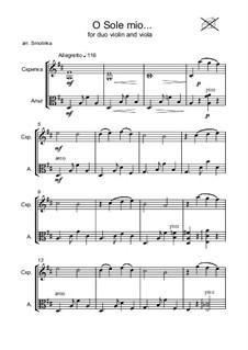 O Sole Mio: For violin and viola by Eduardo di Capua