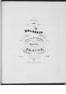Erlkönig (Forest King), D.328 Op.1: arranjo para piano, S.558 No.4 by Franz Schubert
