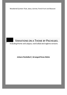 Canon in D Major: Variations, for wind quintet by Johann Pachelbel