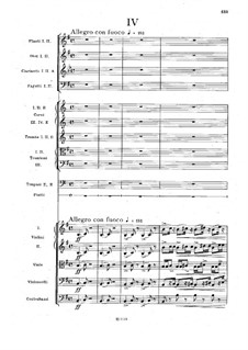 Movement IV: partitura completa by Antonín Dvořák