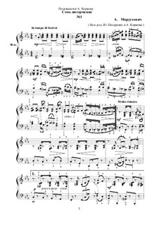 Семь интермеццо для фортепиано: Семь интермеццо для фортепиано by Alexander Morduhovich