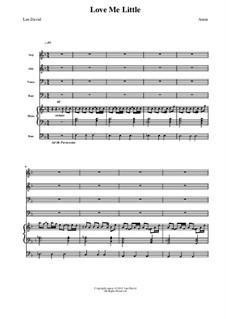 Love me Little: partitura completa by Len David