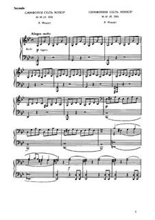Movement I: para piano de quatro mãos - parte by Wolfgang Amadeus Mozart