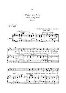 Caro mio ben (O Maiden Dear): Для голоса и фортепиано (английский и итальянский тексты) by Томмазо Джордани