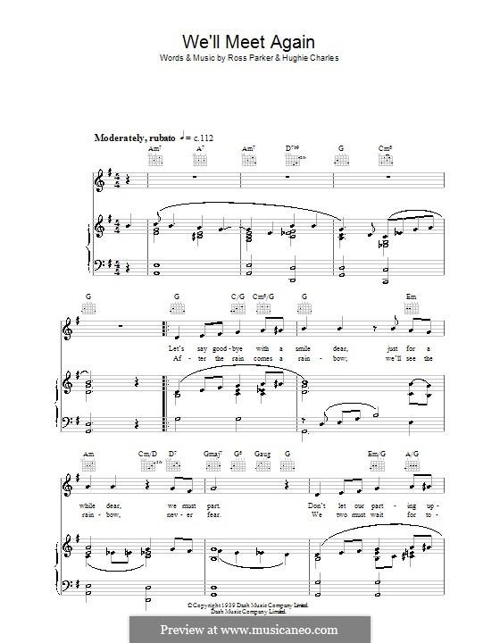 We'll Meet Again: Для голоса и фортепиано (или гитары) by Hughie Charles, Ross Parker
