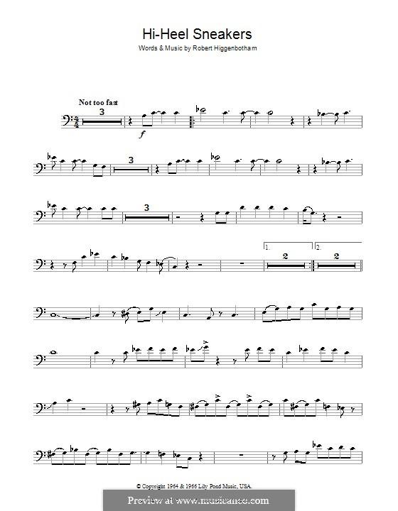 Hi-Heel Sneakers (Tommy Tucker): For trombone by Robert Higginbotham