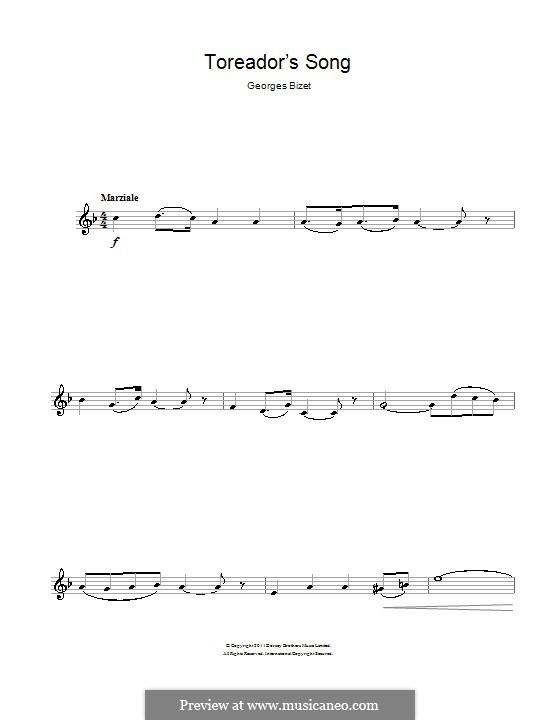 Куплеты Тореадора: Для кларнета by Жорж Бизе