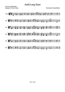 Auld Lang Syne: For viola by folklore