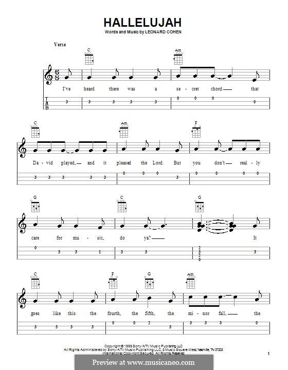Hallelujah: Для укулеле by Leonard Cohen