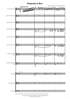 Рапсодия в стиле блюз: For clarinet ensemble by Джордж Гершвин
