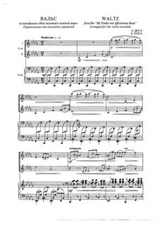 Вальс из фильма 'Мой ласковый и нежный зверь': Для двух скрипок и фортепиано by Евгений Дога