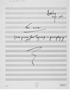 Пятьдесят пьес для начинающих пианистов: Тетрадь II (манускрипт) by Эрнст Леви