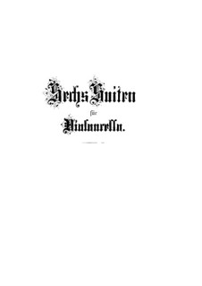 Сюита для виолончели No.1 соль мажор, BWV 1007: Для одного исполнителя by Иоганн Себастьян Бах