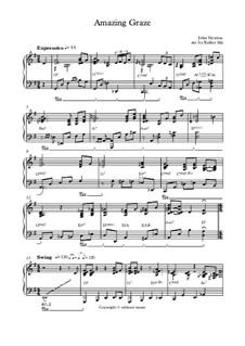 О, благодать: For piano (jazz reharmonised) by folklore