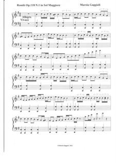 Rondòs, Op.118: Rondò No.1 in Sol Maggiore by Marzia Gaggioli