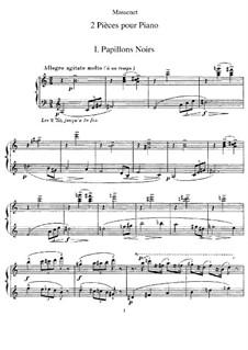 Две пьесы для фортепиано: Для одного исполнителя by Жюль Массне