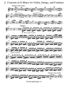 Концерт для скрипки с оркестром No.2 соль минор 'Лето', RV 315: Партии by Антонио Вивальди