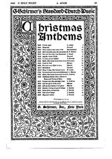 Святая ночь: Для хора и органа by Адольф Адам