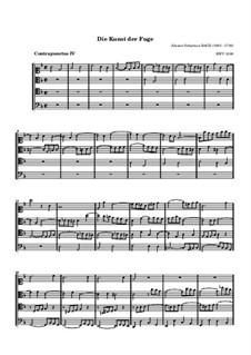 Искусство фуги, BWV 1080: No.4 by Иоганн Себастьян Бах